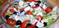 Tomatoes and cheese iceberg salad Difficulty: Low Time: Ingredients: iceberg salad cucumber cherry tomatoes -Telemea cheese or your favorite cow milk cheese hand of olive(remove. Cold Vegetable Salads, Vegetable Recipes, Healthy Meal Prep, Healthy Salad Recipes, Iceberg Salad, Appetizer Salads, Appetizers, Tomato And Cheese, Good Food