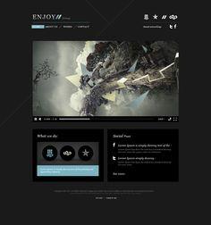 #Web Enjoy by Julián Pascual González, via #Behance #Webdesign