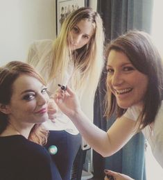 Emma Stone getting ready for Oscar Night!