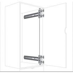 Knape and Vogt KV Free Swing Inset Hinge Kit/8080/8092 Pocket Door 8080HKEZF EB | CabinetParts.com