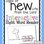 """""""Signs of New Life from the Lord"""" Interactive Sight Word Reader Freebie: This is an emergent reader to provide students with an opportunity to learn to read and spell the sight word """"new"""" in a hands-on way.  Each page of..."""