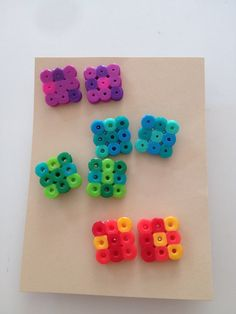 Funky square perler bead earring set by ScrappityCrafts on Etsy, $8.00