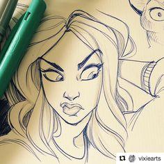 #wooolikes @vixiearts  Ballpointpen-sketch.  #art #artwork #artist #artistsoninstagram #vixiearts #draw #draws #drawing #girl #illustration #sketch #ballpointpen #ballpointpenart #sketchbook #illustration #illustrationartists #regram #repost #wooomic #comic #gesture