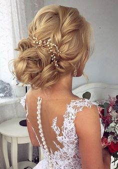 Long wedding updos and hairstyles from Elstile #weddinghairstyles
