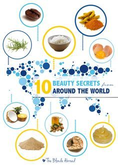 secret beauty remedies 10 Beauty Secrets from Around the World from The Blonde Abroad! - After having asked women for their all-natural beauty secrets from around the world, I've got insider information on how they stay gorgeous! Beauty Secrets, Diy Beauty, Beauty Tips, Beauty Products, Beauty Makeup, Eye Makeup, Beauty Style, Beauty Trends, Beauty Ideas