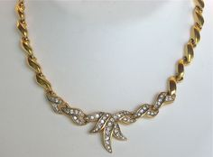 Vintage Nina Ricci Rhinestone Necklace - available in our shop on Ruby Lane
