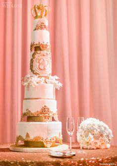 Cake by Le Dolci | WedLuxe Magazine