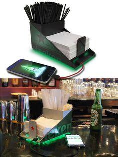 USB Phone Charging Napkin Holder