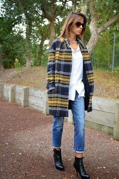 El invierno de las bloggers será protegido por un abrigo a cuadros... De Zara