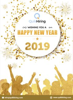 Mobile Job App for Job Seekers & Recruiters - QuikHiring Happy New Year 2019, Job Posting, New Opportunities, Spreads, Fragrance, Bloom, Life, Beauty, Beauty Illustration
