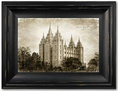 Find thousands of LDS books, movies, music and more. Looking for an LDS related gift? Find it at Deseret Book! Utah Temples, Lds Temples, Family Home Evening Lessons, Salt Lake Temple, Temple Pictures, Lds Art, Framed Art, Wall Art, Red Tree