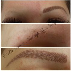 Hair Stroke permanent Eyebrows. I would love to not have to fill my eyebrows in.. Thinking about something like this