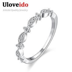 Find More Rings Information about Uloveido Luxury Design Wedding Engagement Ring For Women Austrian Crystal CZ Diamond Jewelry Silver Rings HFR005,High Quality ring cartoon,China ring jewellery Suppliers, Cheap ring tag from Ulovestore Jewelry on Aliexpress.com