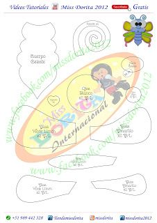 Miss Dorita Felt Patterns, Baby Shower, Dolls, Jazz, Kids Ministry, Activities, Animais, Craft, Ideas