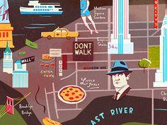 NYC on Dribbble, by Owen Gatley