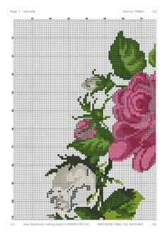 Easy Cross Stitch Patterns, Simple Cross Stitch, Cross Stitch Rose, Cross Stitching, Cross Stitch Embroidery, Rico Design, Booties Crochet, Prayer Rug, Diy And Crafts