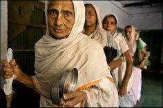 "This picture is from Vrindavan, India--""City of Widows.""  There are over 15,000 destitute widows living in overcrowded ashrams, chanting for their supper.  I want to reach out and hug each of these women and tell them that they have a purpose--that THEIR life does NOT die with their husbands.  Check out the website."