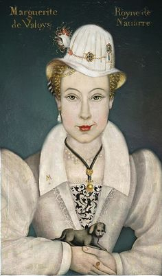 """Proof River Song really exists! """"Hello Sweetie""""... from 16th Century France! She even has an """"M"""" pin on her lapel for Melody!! (ANIMALIA PALATINA Marguerite de Valois)"""