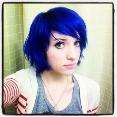 shag haircut short manic panic and a side 5948 | 5f3217f4e25e16e122e5948ca01febb0 royal blue hair blue green hair
