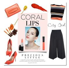 """""""Coral day!"""" by tatajrj ❤ liked on Polyvore featuring beauty, Chloé, MAC Cosmetics, Ted Baker, Erdem, Paul Andrew, Agent Provocateur, NARS Cosmetics and coolcorals"""