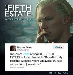 The Fifth Estate, Get Tickets, Benedict Cumberbatch, Journalism, 21st Century, Thriller, Dating, Film, Digital