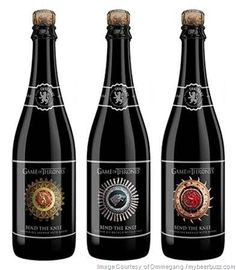 Brewery Ommegang & HBO Announce New Game of Thrones Bend the Knee Golden Ale Game Of Thrones Beer, Game Of Thrones Fans, The Gr, Best Beer, News Games, Brewery, Beer Bottle, Cool Designs, Drinks
