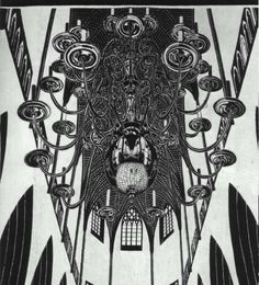Chandelier with Candles - M.C. Escher