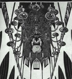 Chandelier with Candles - M.C. Escher