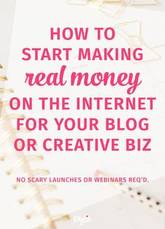 Want to start making money online for your blog or creative business, but you're not ready to launch a big product or e-course? Here's a better, easier way...and it will grow your email list at the same time! (Perfect for introverts + beginners.) Click to read the full tutorial at http://olyvia.co/how-to-make-easy-passive-income/ !