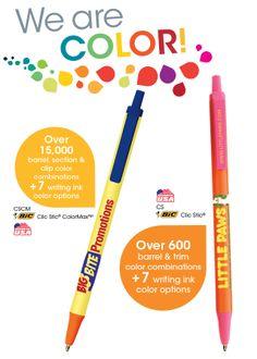 BIC ® Clic Stic ® ColorMax (™) CSCM Mix 'n match over 15,000 color combinations on the BIC Clic Stic ColorMax! #propelpromo
