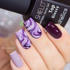 purple-nails-designs-square-marble-effec