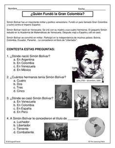 ejercicio biografía Simón Bolívar