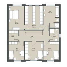 Living Haus, House Construction Plan, Architectural House Plans, Home Design Floor Plans, Floor Plan Layout, House Made, House Goals, Apartment Interior, Deco