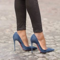 Christian Louboutin suede 'So Kate' pumps #stilettoheelslouboutin #christianlouboutinsokate