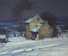 Homestead at Night // George William Sotter