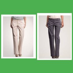 Gap Classic Khakis Cotton pants. These are size 10 long. Never worn. Sits below the waist. Relaxed through hip and thigh. Button closure. Zip fly. GAP Pants Trousers