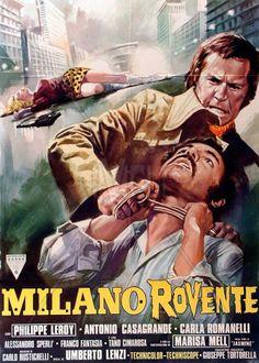 """Gang War in Milan (1973) """"Milano rovente"""" (original title) Stars: Antonio Sabato, Philippe Leroy, Antonio Casagrande ~  Director: Umberto Lenzi"""