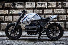 "Bmw K100 Street Tracker ""SILVER GILLS"" by Shaka Garage #motorcycles #streettracker #motos | caferacerpasion.com"