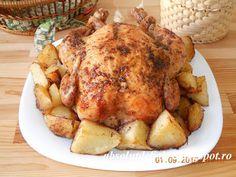 Absolut Delicios - Retete culinare: PUI LA CUPTOR CU 40 DE CATEI DE USTUROI