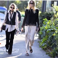 Camille Charriere in Toulon Trousers by Totême