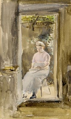 James McNeill Whistler / Shelling Peas 1883 or 1884