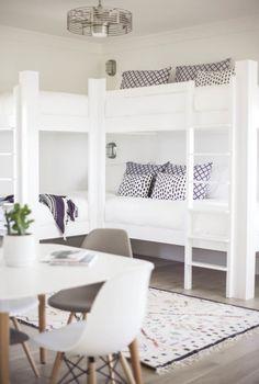 Coastal modern kids room bunk beds More Source by Corner Bunk Beds, Bunk Beds For Boys Room, Bunk Beds Built In, Modern Bunk Beds, Bunk Rooms, Cool Bunk Beds, Bunk Beds With Stairs, Kid Beds, Loft Beds