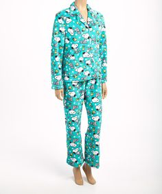 Another great find on Peanuts by Charles Schulz Blue & White Snoopy Pajama Set - Women by Peanuts by Charles Schulz Snoopy Pajamas, Pajama Set, Pajama Pants, Snoopy Love, Charlie Brown, Clothes For Women, Women's Clothes, Blue And White, Peanuts Gang