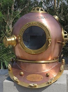 Other Maritime Antiques Collectible Full Size Nautical Iron Divers Nickel Plated Diving Helmet Mark Iv Selling Well All Over The World Antiques
