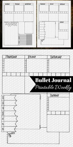 So many possibilities with this spread! Bullet journal weekly spread. Printable planner inserts. Bujo weekly log instant download. Weekly layout. #affiliate #bulletjournalweeklylog #bujoprintables #planneraddict #organizer #journalpages