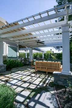 "This one is the result of your 'that' specific thought which created when you wished for a retractable roof over pergola. If it is sunny or rainy, you can have this roof ""on"" over your beautiful pergola and can stay in the patio under the pergola to enjoy every moment and every gulp of this beautiful life."