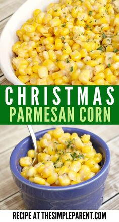 Since corn is always a staple during our holiday meals, it was an obvious choice for one of the easy side dishes for Christmas this year! This recipe is simple to make and you can make it with any kind of corn! Best Side Dishes, Side Dish Recipes, Veggie Recipes, Vegetarian Recipes, Cooking Recipes, Canned Corn Recipes, Fresh Corn Recipes, Christmas Dinner Sides, Christmas Side Dishes