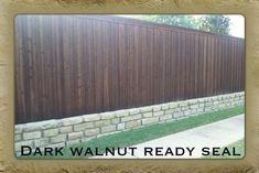 Dark Walnut Stain Wood Fence in Carrollton TX http://www ...