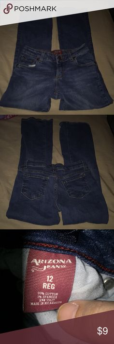 Girls Arizona Jeans Size 12 Little girls Arizona bootcut jeans size 12. These are in great condition and come from a pet and smoke free home. Arizona Jean Company Bottoms Jeans