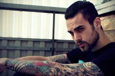 Image about boy in Being Inked. Boy Tattoos, Tattoos For Guys, Tattooed Guys, Tattos, Tatted Men, Men Tumblr, Full Beard, Inked Men, Inked Guys